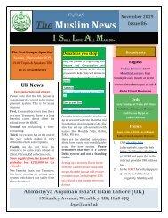 Muslim News No 86 November 2019