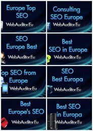 SEO Best in Europe #WebAuditor.Eu for Search Marketing Top European Consulting #EuropeanSearchMarketing #EuropeanSEO #EuropeanContentMarketing #EuropeanDigitalMarketing