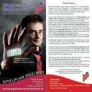 Der Spielplan 2012/2013 - Bürgerzentrum Brackenheim