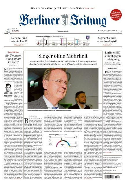 Berliner Zeitung 28.10.2019