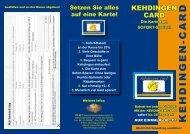 Die Karte zum SOFORT-Sparen! - Kehdingen-Card