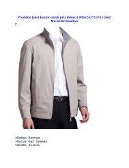 Produksi Jaket kantor pria di bekasi