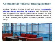 Commercial Window Tinting Madison