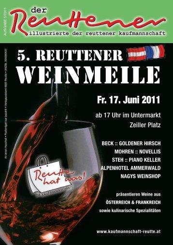 Reuttener Mai 2011 - Kaufmannschaft Reutte