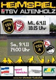 Herzlich Willkommen - TSV Altenholz Fußball