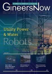 Utility Power & Water Robots, Electric Power & Water Leaders magazine, Nov2019