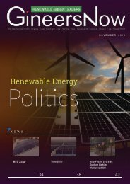 The Politics of Clean Energy (Solar, Wind Farm, Geothermal, Hydro, Green Buildings, Waste Management) Renewable Green Leaders magazine, Nov2019