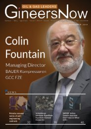 Colin Fountain, BAUER Compressors' Managing Director, Oil & Gas Leaders magazine, Nov2019