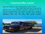 Chartered Bus Austin