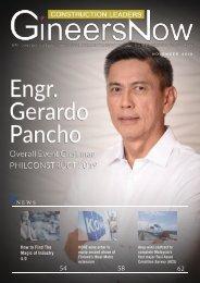 Philconstruct Event Chairman Engr. Gerardo Pancho, Construction Leaders magazine, Nov2019