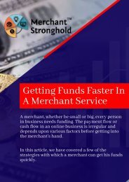Funds Faster With Merchant Service