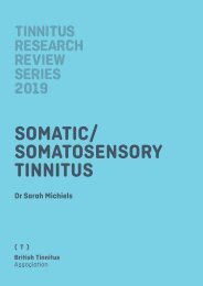 2019 Tinnitus Research Review Series: Somatic Tinnitus