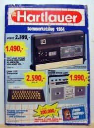Hartlauer-Prospekt aus 1984