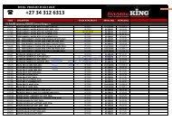 tonneau KING PRICELIST OCT 2019-Website