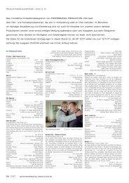 Produktionstelegramm aus PP 11/07 - Professional Production