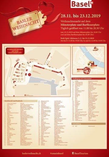 Platzplan und Liste der Stände - Barfüsserplatz