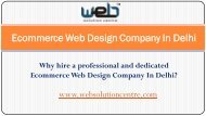 Ecommerce Web Designers In Delhi