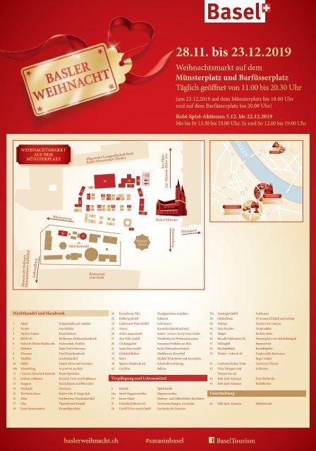 Platzplan und Liste der Stände - Münsterplatz