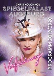 Programmheft Spiegelpalast Augsburg 2019-2020