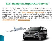 East Hampton Airport Car Service