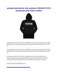 produksi jaket kantor unik sukabumi   085624371576   pembuatan jaket tulisan random