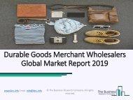 Durable Goods Merchant Wholesalers Market