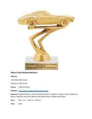 Miami's Best Mobile Mechanic