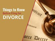 Filing for Divorce? What You Ought to Know