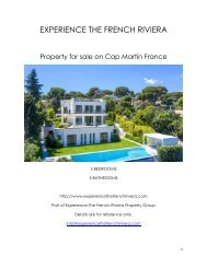 Property for sale in Cap Martin France