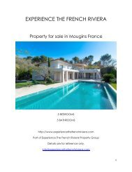Property for Sale in Mougins France