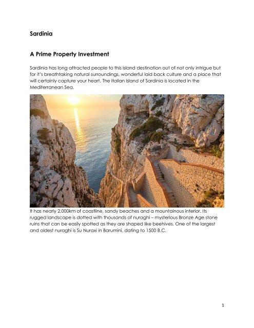 Sardinia Prime Property Investment