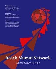 Bosch Alumni Network - Gemeinsam wirken