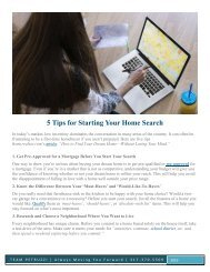 5 Tips for Starting Your Home Search