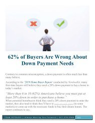 Buyers are wrong about down payment