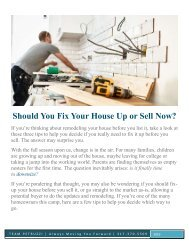 Should You Fix Your House Up or Sell Now