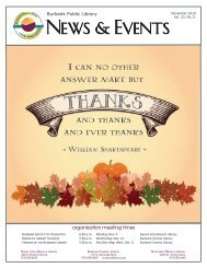 November 2019 Library News and Events