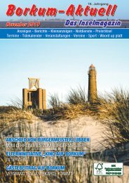 November  2019   Borkum-Aktuell - Das Inselmagazin