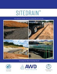 Page 11 AWD SITEDRAIN Civil Brochure 2019