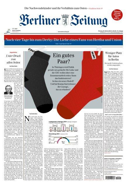 Berliner Zeitung 29.10.2019