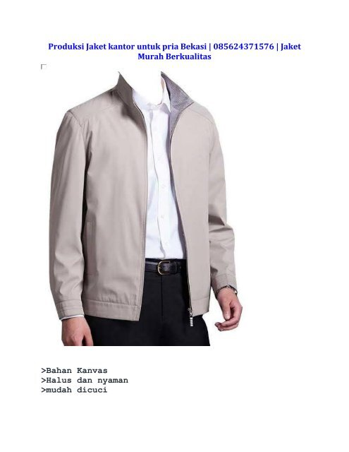 Jual Jaket kantor untuk pria Bekasi   085624371576   Jaket Murah Berkualitas