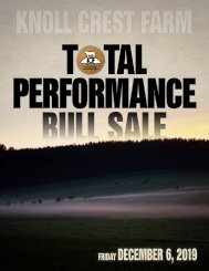 Knoll Crest Farm - Total Performance Bull Sale - Dec. 6 2019