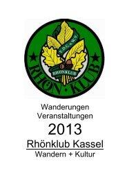 Jahreswanderplan des Rhönklubs