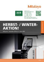 Mitutoyo Herbst-/Winter-Aktion 2019