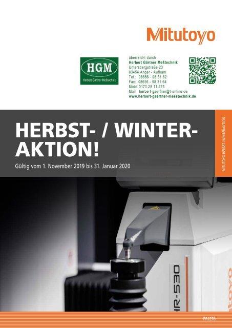 Mitutoyo Herbst-/Winter-Aktion 2019