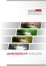 DEGEMED-Jahresbericht 2018/2019