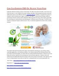Can CaliGarden CBD Oil Relieve Your Pain