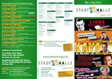 Mai / Juni 2011 - Stadthalle Hagen