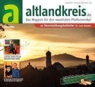 Altlandkreis Ausgabe November/Dezember 2019 - Das Magazin für den westlichen Pfaffenwinkel
