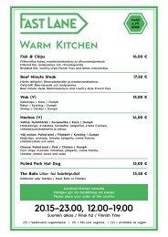 BP Fast Lane - Warm Kitchen & Night Snacks 30.10-