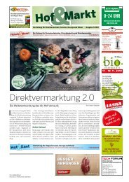 Hof&Markt   Fleisch&Markt   Hof&Gast 07/2019